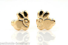 9ct Gold Bunny Rabbit Small studs Earrings Gift Boxed Made in UK