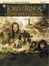 Lord of the Rings Instrumental Solos Viola Book: With Piano Accompaniment & CD,