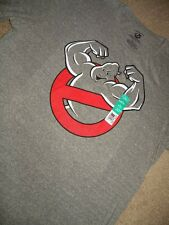 NEW CLASSIC GHOSTBUSTERS LOGO AINT AFRAID MUSCLES MENS XL 46/48 GREY TSHIRT NWT