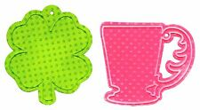 Sizzix Bigz Cup & Clover Tags die #659182 Retail $19.99 Cuts Fabric!  + Emboss!