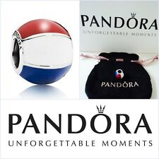 GENUINE Pandora Sterling Silver Beach Ball Charm Union Jack colours NEW in Pouch
