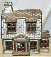 Vtg Cast Iron Still Bank 2 Story House w/ Porch by A C Williams 1910-1934