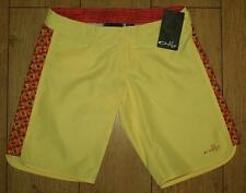 Bnwt Femme Oakley Glide piscine Planche de Surf Short UK4 New jaune