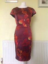Beautiful Orange/Rusty Brown Satin Dress From Coast Uk 14