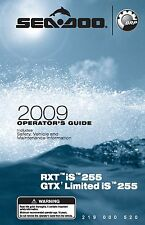 Sea-Doo Owners Manual Book 2009 RXT iS 255 & GTX LIMITED iS 255