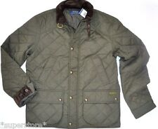 $345 POLO RALPH LAUREN Men QUILTED Hagan Barn BUSINESS Jacket CAR Coat OLIVE M