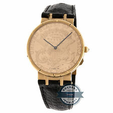 Corum $20 Coin Limited Edition Manual Rose Gold Mens Strap Watch Deployment