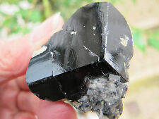 AA GRADE NAMIBIAN BLACK TOURMALINE Crystal POINT WITH MATRIX 4X4X2 CMS 72g