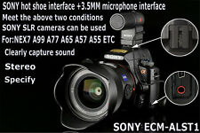 Genuine SONY ECM-ALST1NEX7 A77 A99 A55 A57micro camera microphone Made in Japan