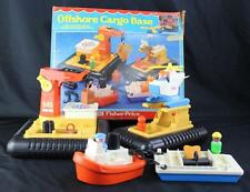 Vintage Fisher Price Offshore Cargo Base Playset #945 Near Complete Boxed!
