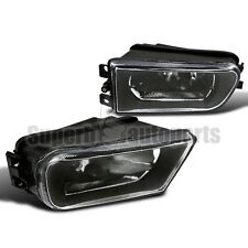 1997-2000 BMW E39 528i 540i Clear Lens Driving Fog Lights Z3 Bumper Lamps Black