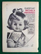 VV30 Pubblicità Advertising Clipping 19x13 cm (1969) MICHELA BAMBOLA SEBINO