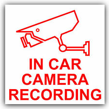 In Car Camera Recording Sticker-CCTV Sign-Van,Lorry,Truck,Taxi,Bus,Mini Cab-Ext