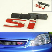 NEW JDM RED civic SI GRILL BADGE 3D Screw on Metal Emblem Front Emblem Air Dam