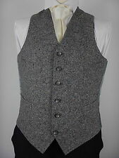 Mens Grey With Multi Colour Flecks Tweed Wool Country Waistcoat Vest Size UK 40