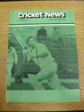29/05/1979 Cricket News: Vol.03 No.04 - A Weekly Review Of The Game. Any faults