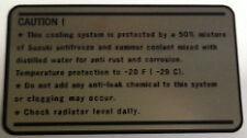 SUZUKI GT750 RE5 COOLANT CAUTION WARNING DECAL LABEL