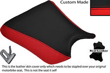 RED & BLACK CUSTOM FITS KAWASAKI ZXR 250 88-91 FRONT LEATHER SEAT COVER