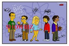 * THE BIG BANG THEORY CAST SIGNED AUTOGRAPH POSTER PHOTO PRINT - STUNNING PIECE