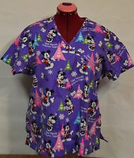 Mickey Mimmie Nurse Vet Tech Dental Scrub Uniform cold hands warm heart Xmas
