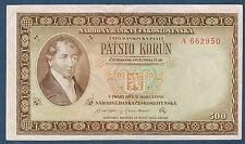 TCHÉCOSLOVAQUIE - 500 KORUM Pick n° 735. du 12-3-1946. en SUP   A 662950