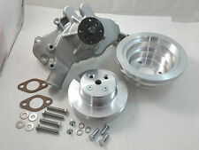 BB Chevy BBC Aluminum Long  Water Pump &  Pulley Kit W/ Bolts & Gaskets 396 454