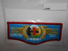 TANKITEKE LODGE 313 MEDIUM LETTERS  CLOTH BACK F240