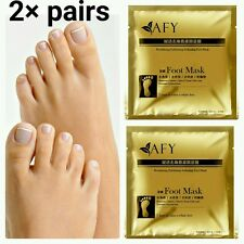 2×Pairs 24k Gold Foot Peeling Mask Dead Skin Cuticle Callus Dry Skin Exfoliating