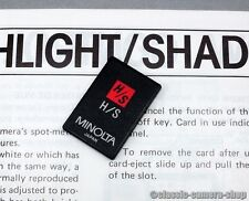 Minolta chip mapa highlight Shadow control card Dynax 700si 7000i 8000i 7xi 9xi