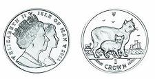 2012 Isle of Man Cat Crown Cupro Nickel Queen Elizabeth II Coin