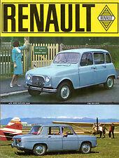 Renault 1963 UK Market Sales Brochure R4 Dauphine R8 Caravelle