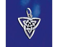 Sterling Silver Celtic Knot Pendant Keltic Ireland Classic Charm 925 Italy New