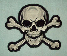LARGE BACK PATCH SKULL & CROSSBONES MOTORCYCLE LEATHER JACKET BIKER VEST PATCH