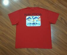 Vintage 90s NAUTICA Spell Out Shirt Yacht Sailing Gear Competition Sport Boat Sm