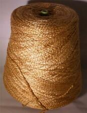 RAYON ROVING 1080 YPP FINE SPORT WEIGHT CONE YARN 2 LBS 1 OZ CAMEL TONAL (R11H)