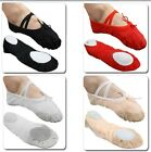 Free P&P New Children Girls Comfortable Canvas Ballet Dance Flat Shoes Sz 8-13.5