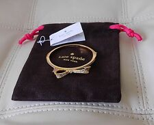 New Kate Spade Pave Love Notes Studded Hinged Bow Bangle Gold