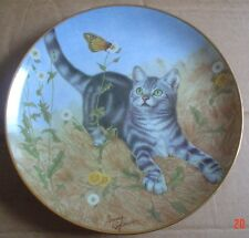 Lovely Danbury Mint GARDEN OF WEEDIN' From CATS AND FLOWERS Cat Collector Plate