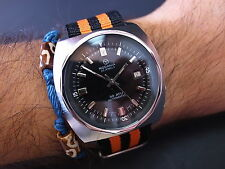 Vintage men's Rodania diver two crown fully restored serviced diver watch rare!!