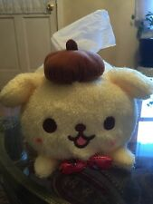 Sanrio pom pom purin dog plush, bow tie tissue case brand new with tag