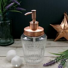 VINTAGE Kilner Mason Jar Soap Dispenser con coperchio in rame solido e POMPA IN RAME