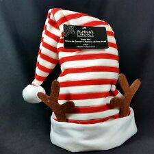 Striped Reindeer Santa Claus Stocking Hat Christmas Antlers Child Kid Baby New