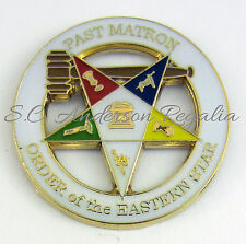 Masonic Order Eastern Star OES Past Matron Large Lapel Pin Mason Freemason