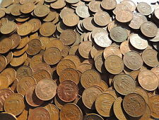 BULK LOT OF 40 OLD BRITISH SHIP HALF PENNY COINS (1937 -1967)