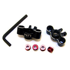 Traxxas 1/16 Revo Summit Black Aluminum Axle Carrier Knuckles Hot Racing VXS2101