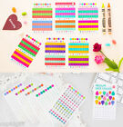 Color Date Decor Sticker 12EA Diary Planner Scrapbook Label Index Point Icon