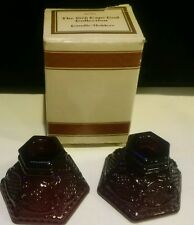 Vintage Avon Cape Cod Collection Ruby Red Candle stick Holders