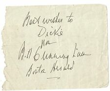 BILL CUNNINGHAM BOSTON HERALD & CONNIE BOSWELL DUAL AUTOGRAPH CUT-RARE SPORTS