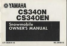 1989 YAMAHA  CS340N, CS340EN  LIT-12628-01-10 SNOWMOBILE OWNERS MANUAL (212)