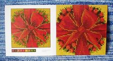 Genuine Elizabeth Bradley Needlework Bow & bacche MINI grafico CARD 6 POLLICI quadrati
